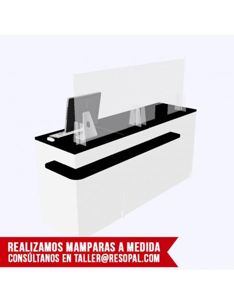 Mampara transparente con cajeado BLACK FRIDAY