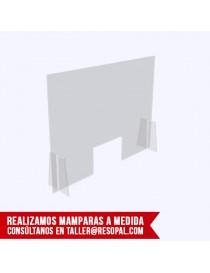 Mampara transparente con patas encajables