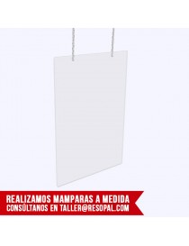 Mampara transparente para colgar