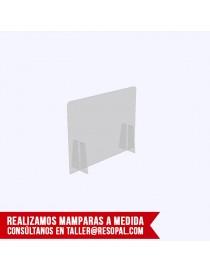 Mampara transparente encajable para oficina