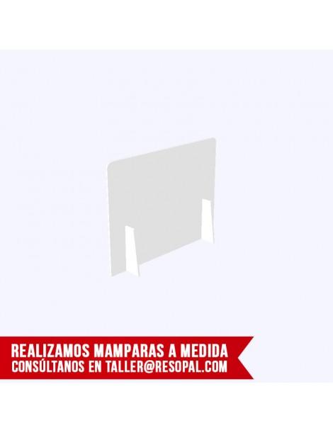 Mampara translúcida encajable para oficina 2 patas
