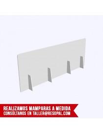 Mampara translúcida encajable para oficina