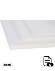 Pieza ISO cartón pluma blanco